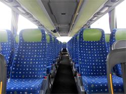 bequeme und moderne Innenausstattung der Busse von Gassert Reisen